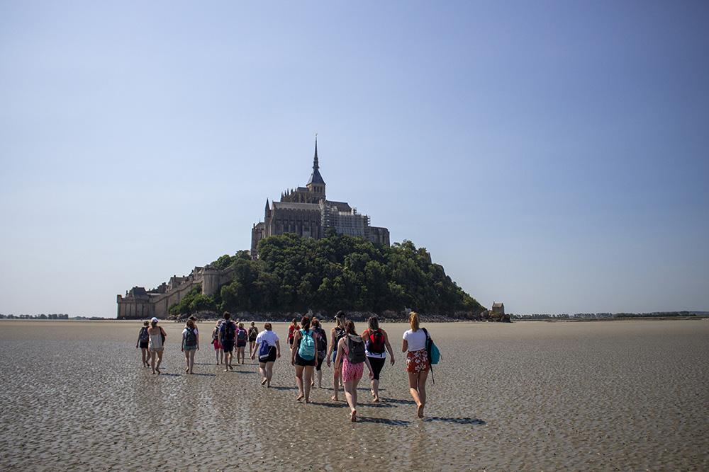 Les équipes Comptagesma au Mont-Saint-Michel